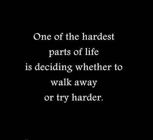 The Hardest Decision Quote 1 Picture Quote #1