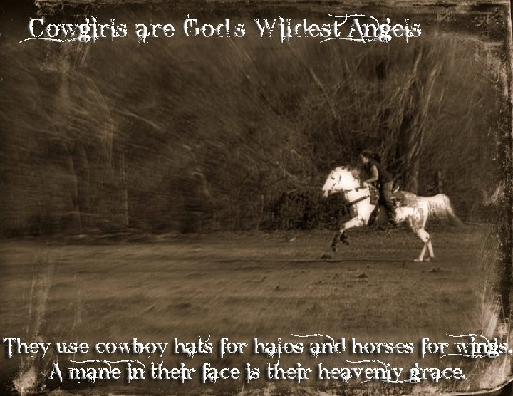 Cowgirl Quote About Horses 2 Picture Quote #1