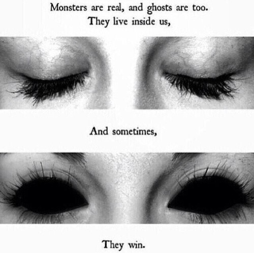 Deep Scary Quote 3 Picture Quote #1