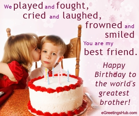 Birthday Quote For Brother 1 Picture Quote #1