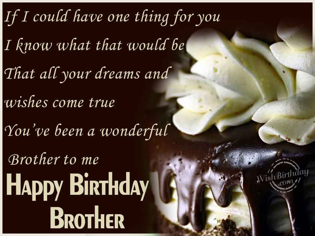Birthday Quote For Brother 3 Picture Quote #1
