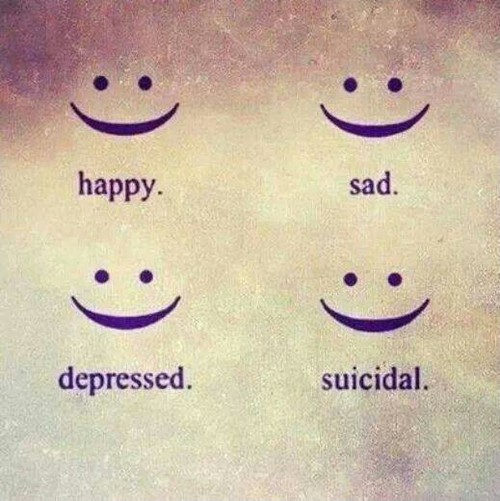 Depression Quote About Fake Smiles 2 Picture Quote #1