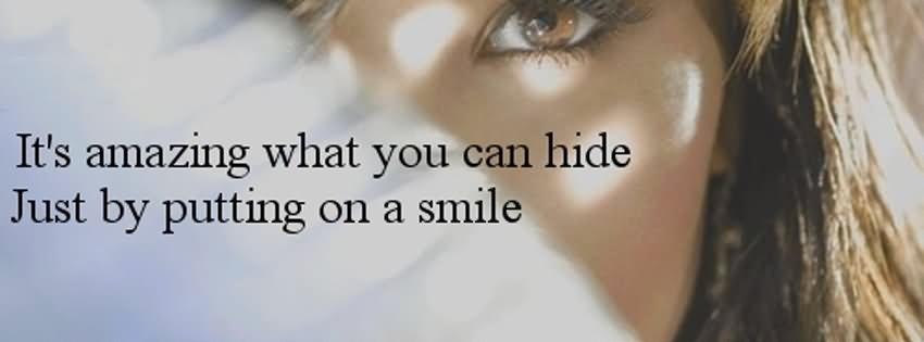 Put On A Fake Smile Quote 1 Picture Quote #1