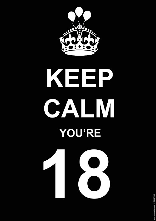 Keep Calm 18th Birthday Quote 1 Picture Quote #1