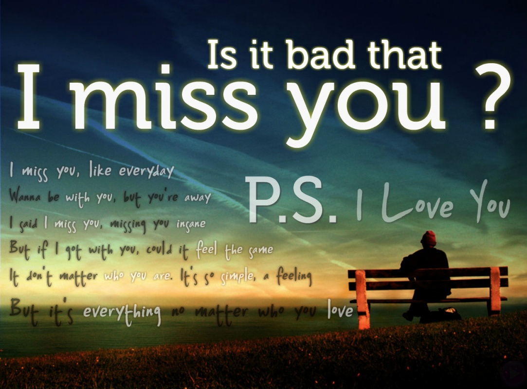 I Miss You Quote For Him 1 Picture Quote #1