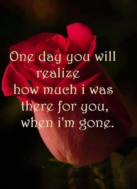 One Day You Will Realize Quote 2 Picture Quote #1