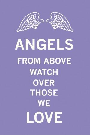 Angels from above watch over those we love Picture Quote #1