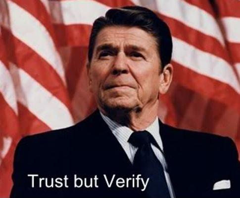 Trust, but verify Picture Quote #1