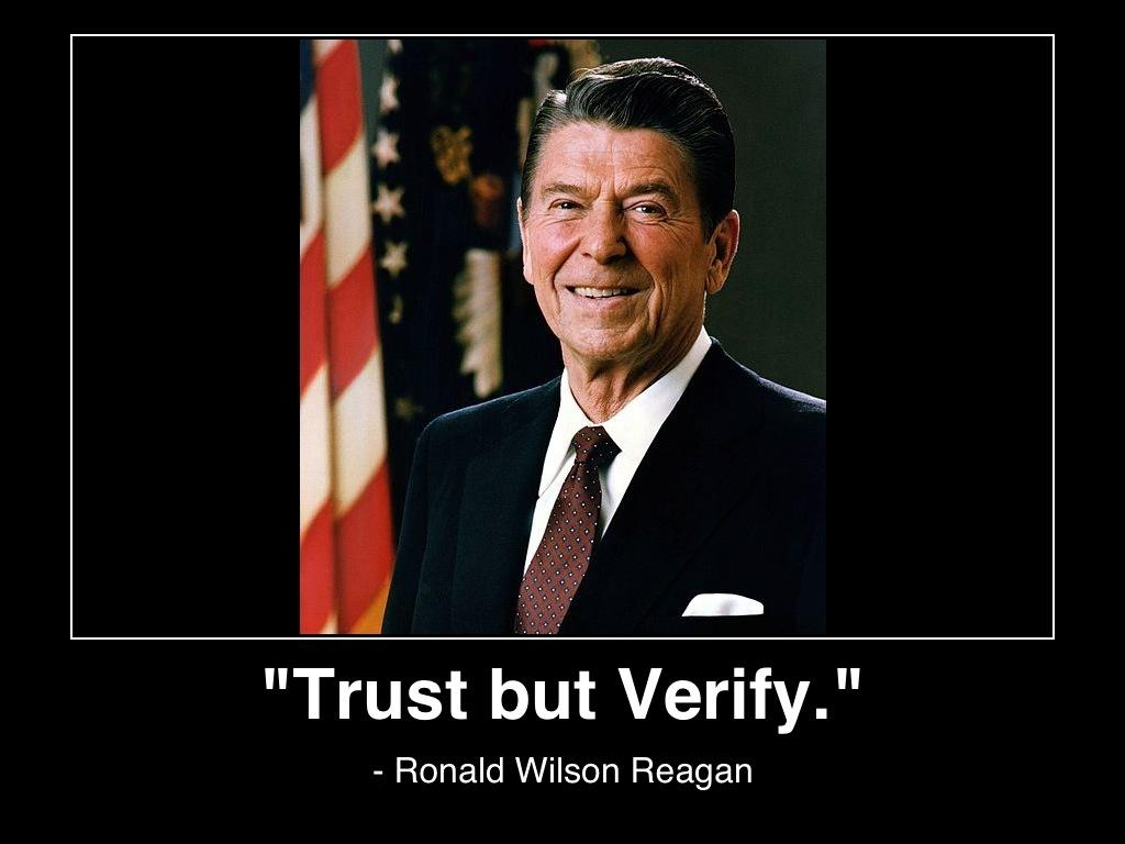 Trust, but verify Picture Quote #2