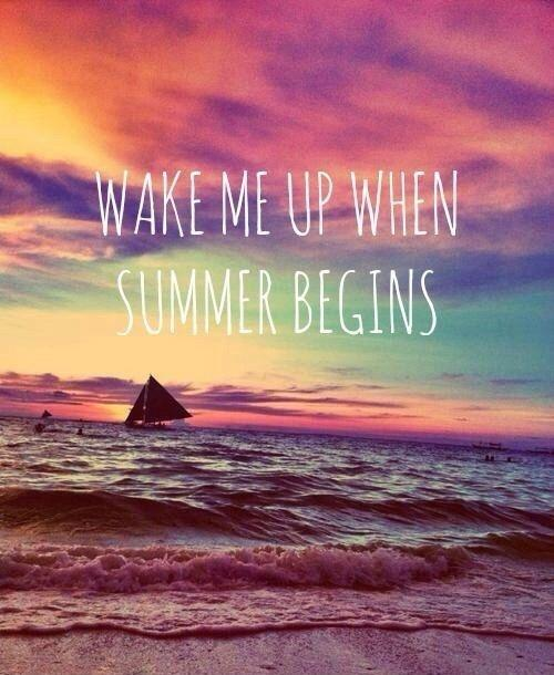 Wake me up when summer begins Picture Quote #1