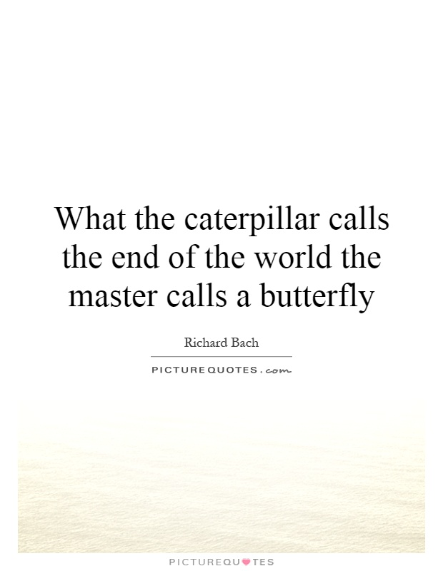 What the caterpillar calls the end of the world the master calls a butterfly Picture Quote #1