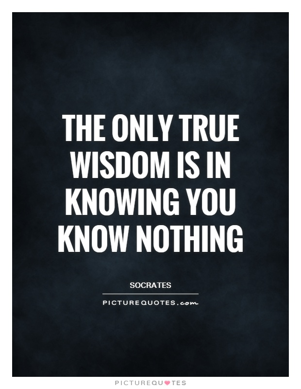 The only true wisdom is in knowing you know nothing Picture Quote #1