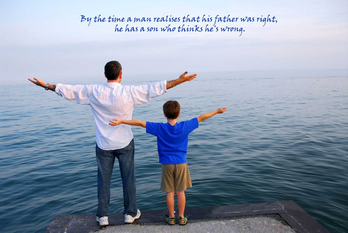 Father And Son Quote 1 Picture Quote #1