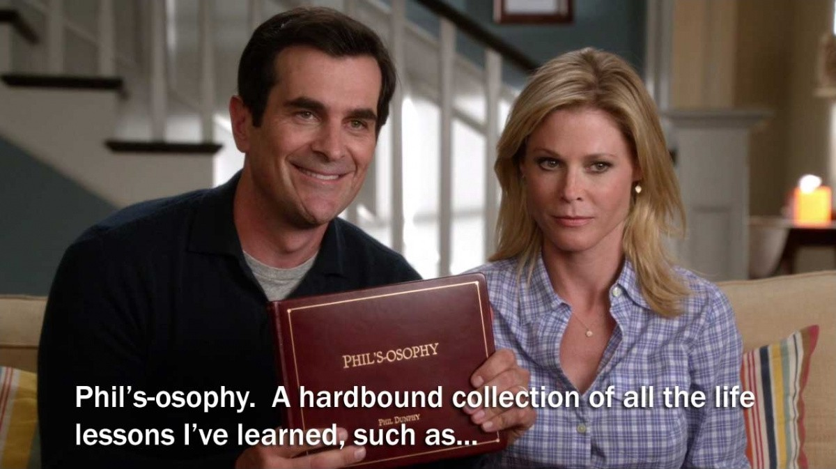 Philosophy Modern Family Quote 2 Picture Quote #1