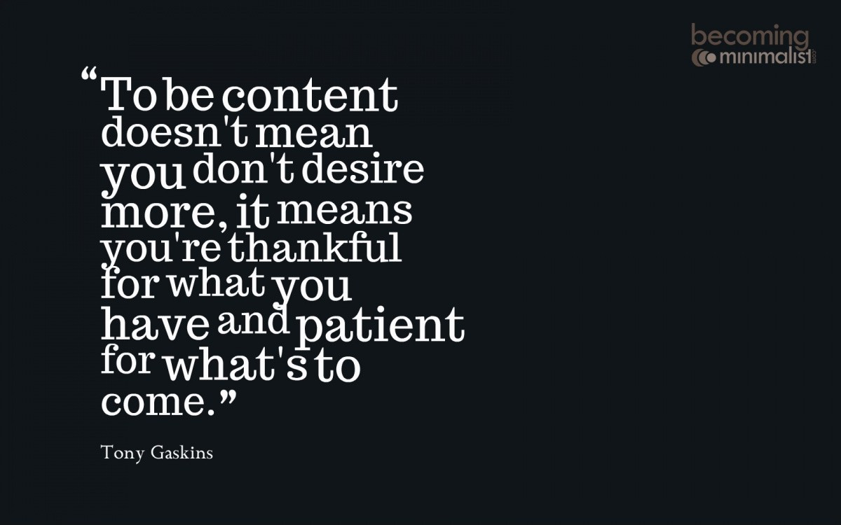 Contentment Quote 3 Picture Quote #1