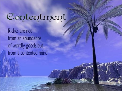 Contentment Quote 4 Picture Quote #1