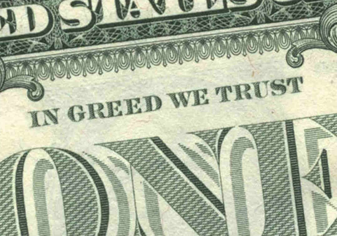 Greed Quote 1 Picture Quote #1