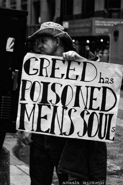 greed love and people