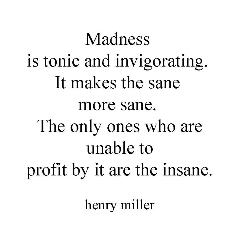 Madness Insanity Quote 1 Picture Quote #1