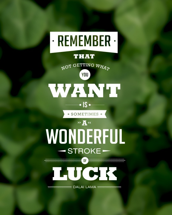 Luck Quote 1 Picture Quote #1