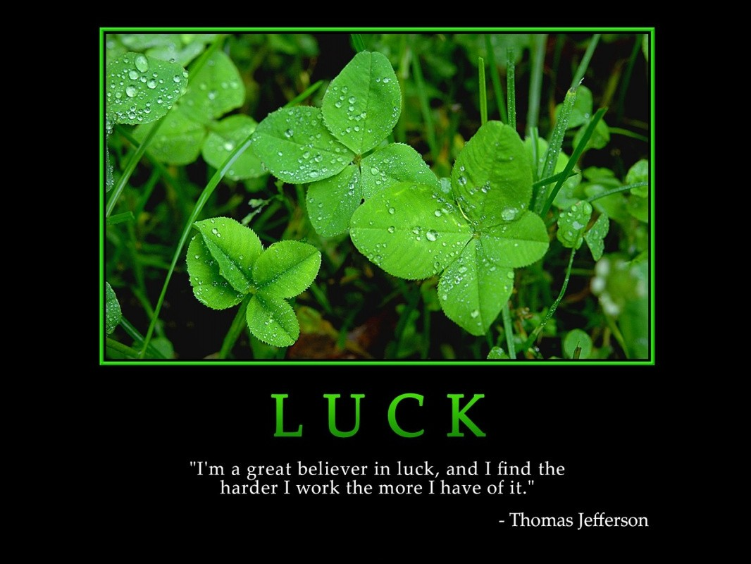 Luck Quote 2 Picture Quote #1