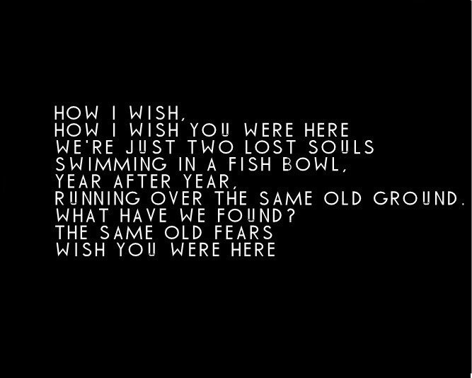 Pink Floyd Wish You Were Here Quote   Quote Number 610336 ...