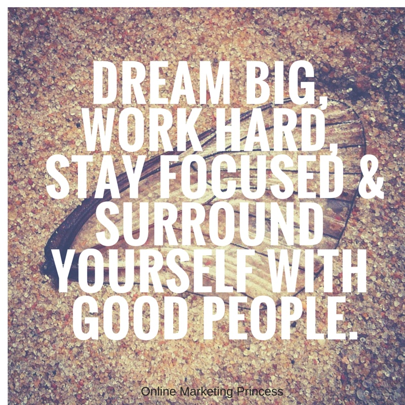 Dream Big Work Hard Quote 2 Picture Quote #1