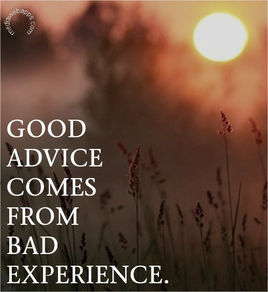 Bad Experience Quote 1 Picture Quote #1