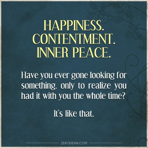 Inner Peace And Happiness Quote 2 Picture Quote #1