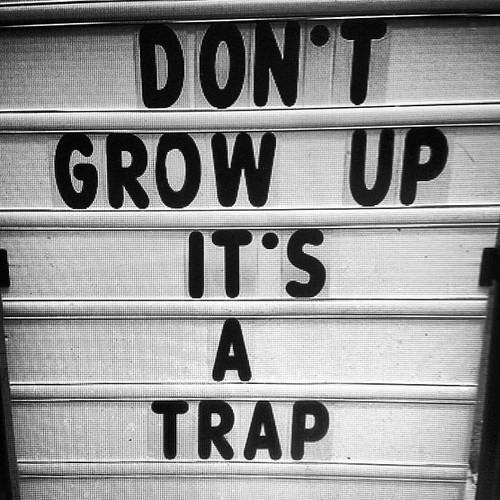 Never Grow Up Quote 2 Picture Quote #1