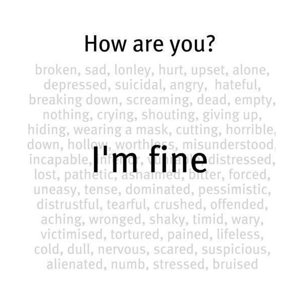 How Are You I M Fine Picture Quotes