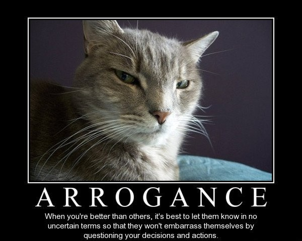 Arrogance Quote 6 Picture Quote #1