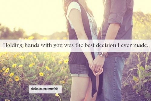 Holding Hands Quote 1 Picture Quote #1