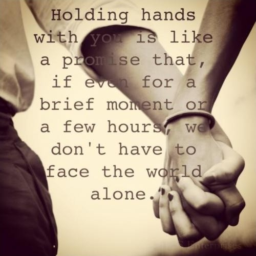 Holding Hands Quote 3 Picture Quote #1