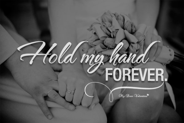 Romantic Quote About Holding Hands 1 Picture Quote #1