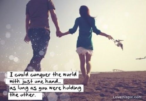 Cute Holding Hands Quote 1 Picture Quote #1