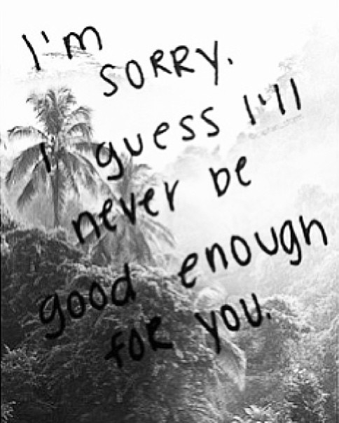 Not Good Enough Quote 15 Picture Quote #1