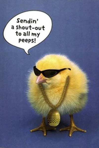 Sending' a shout-out to all my peeps Picture Quote #1