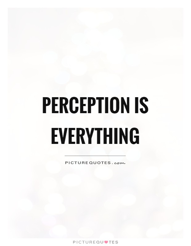 Perception is everything Picture Quote #1