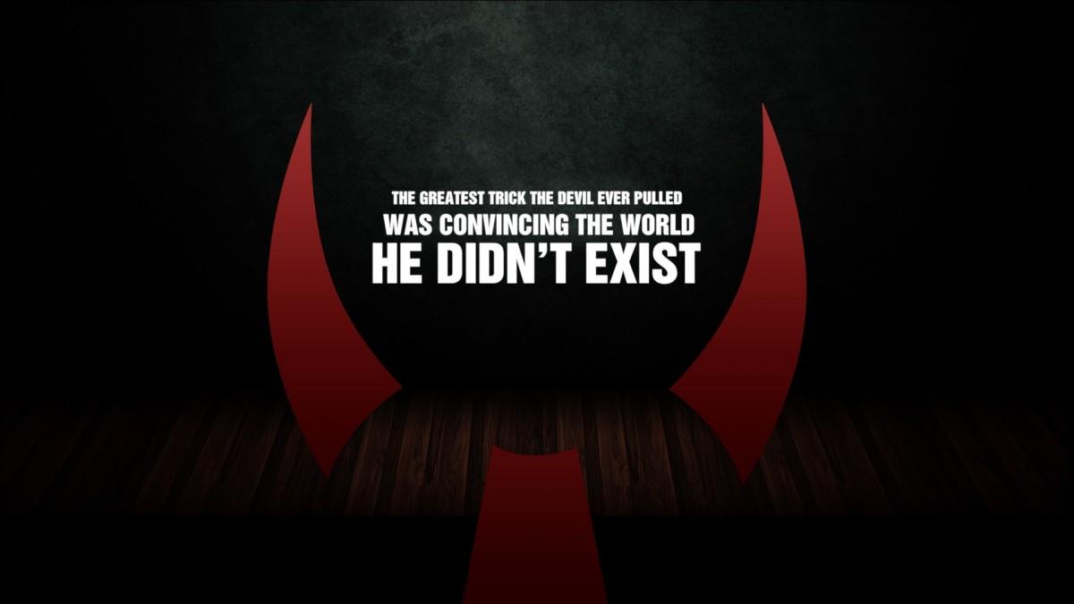 Famous Devil Quote 1 Picture Quote #1