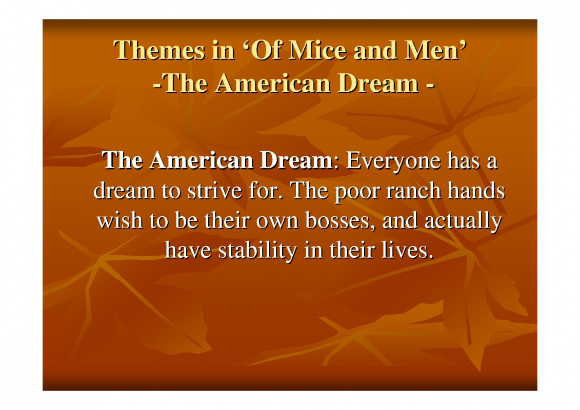 American Dream Quote 1 Picture Quote #1