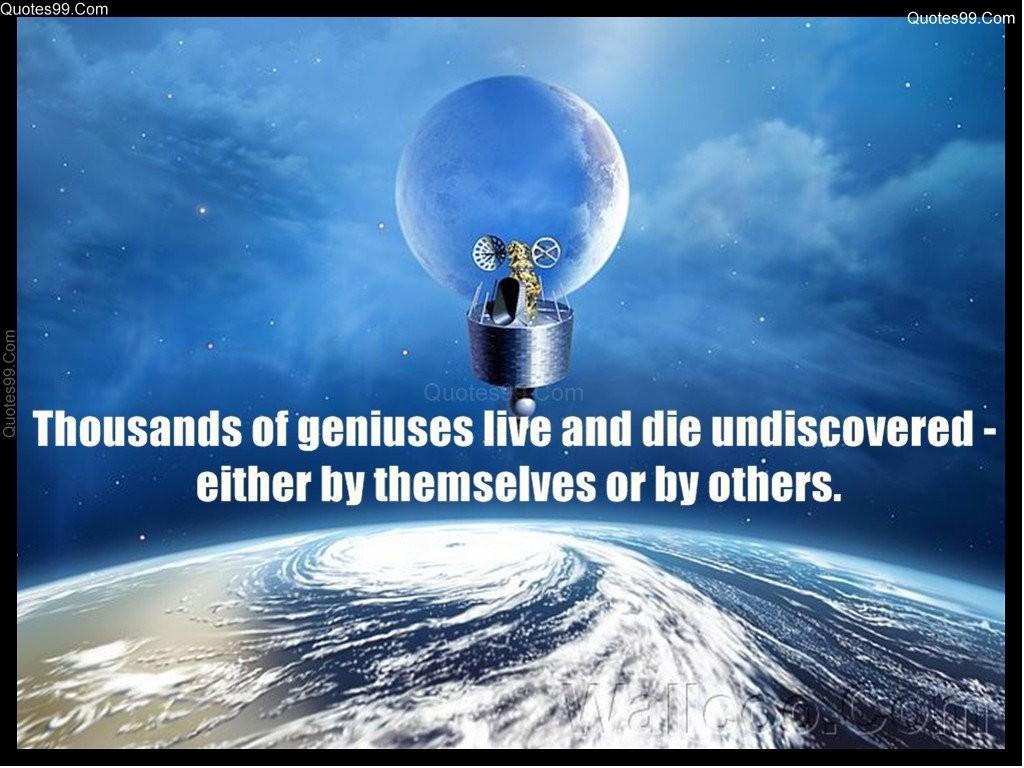 Genius Quote 2 Picture Quote #1