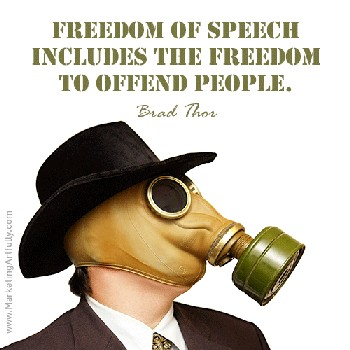 Freedom Of Speech Quote 1 Picture Quote #1