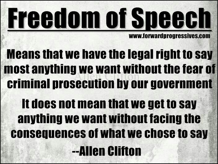 Freedom Of Speech Quote 7 Picture Quote #1