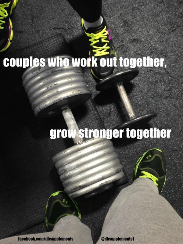 Working Out Together Couples Quote 1 Picture Quote #1