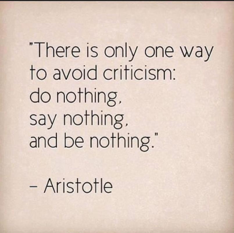 Criticism Quote 1 Picture Quote #1