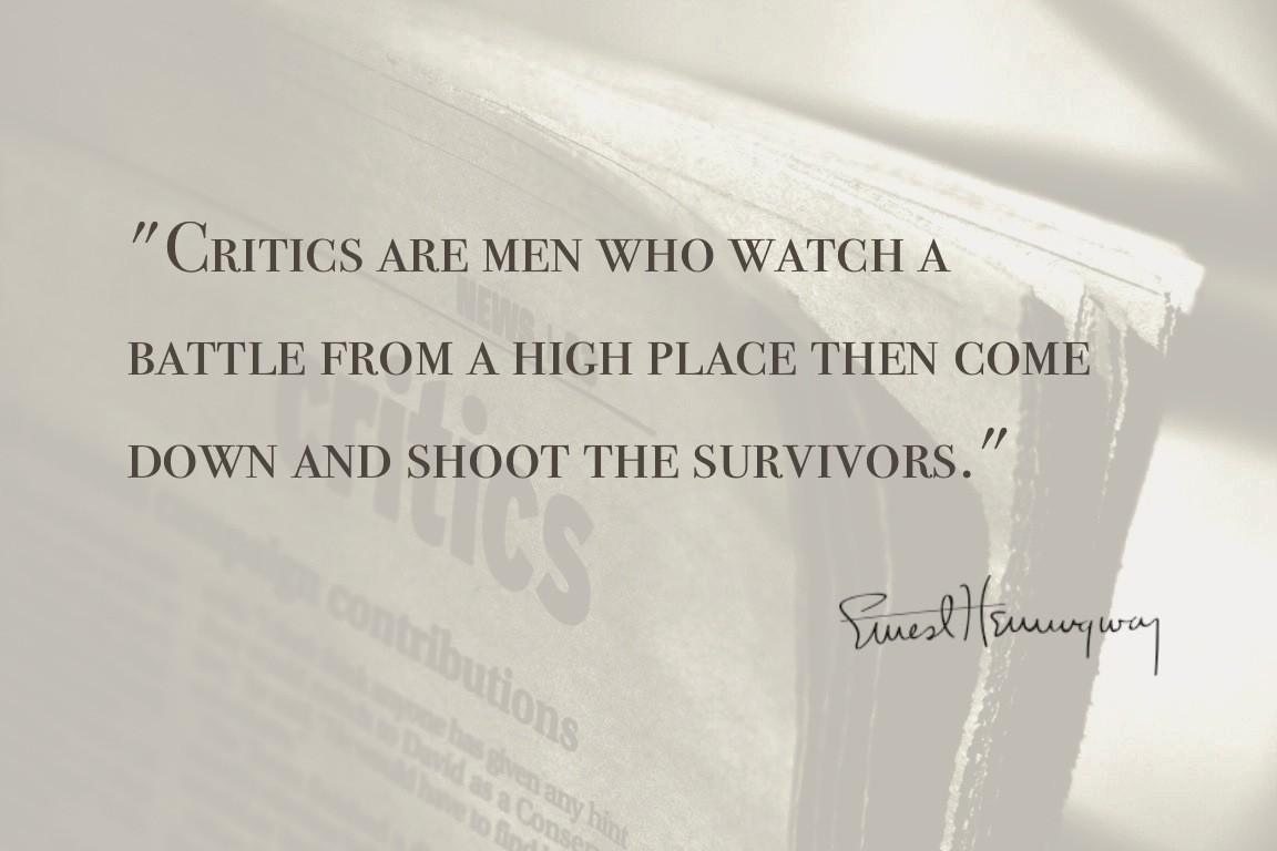 Criticism Quote 2 Picture Quote #1