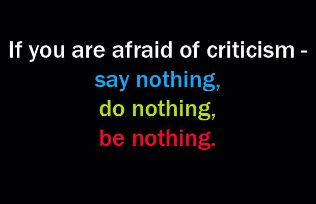 Criticism Quote 8 Picture Quote #1