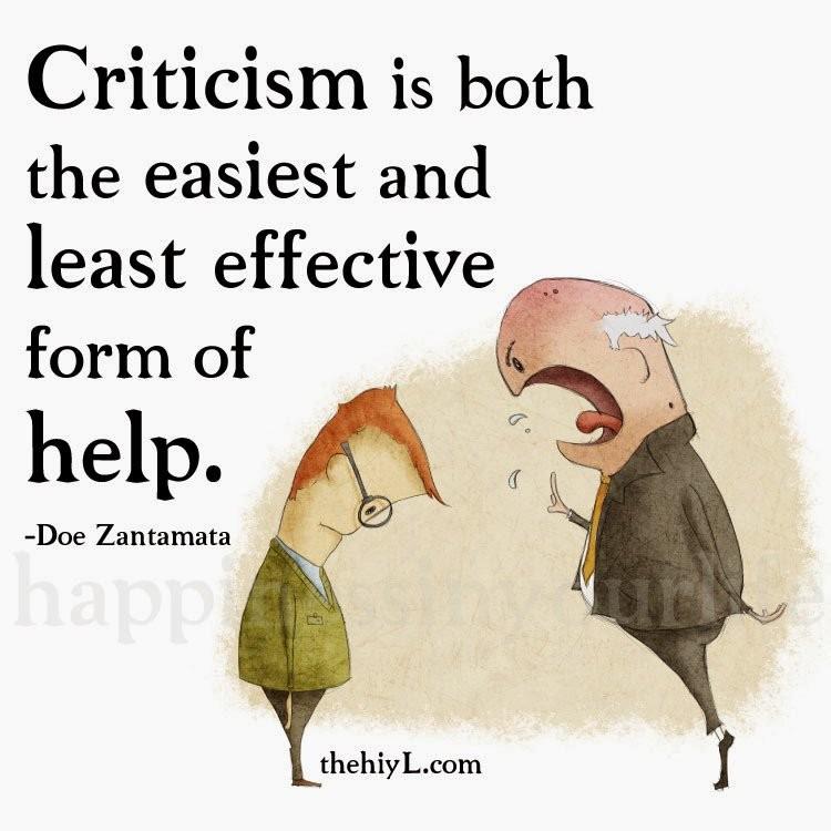Negative Criticism Quote 1 Picture Quote #1