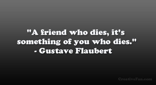 Sad Quote About Losing A Friend 1 Picture Quote #1